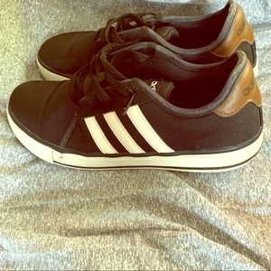 Adidas canvas/leather sneakers.